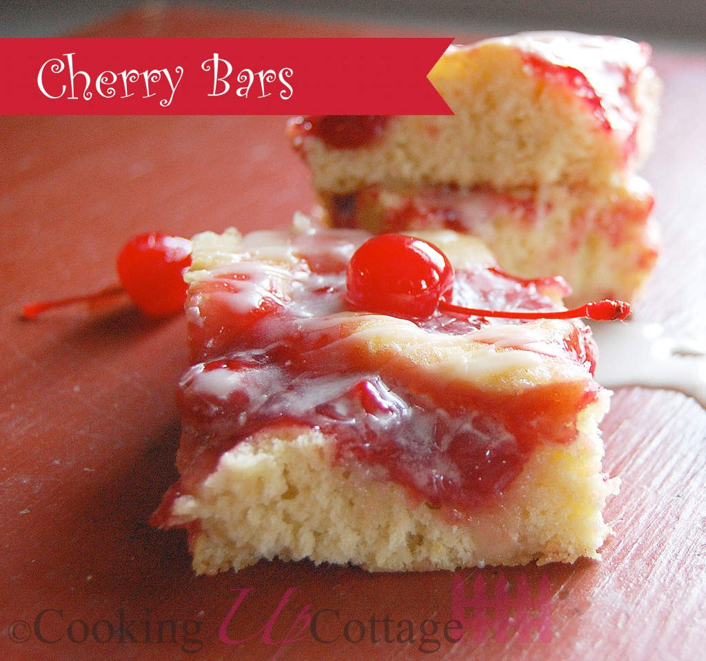 Cherry Bars Made With Cake Mix