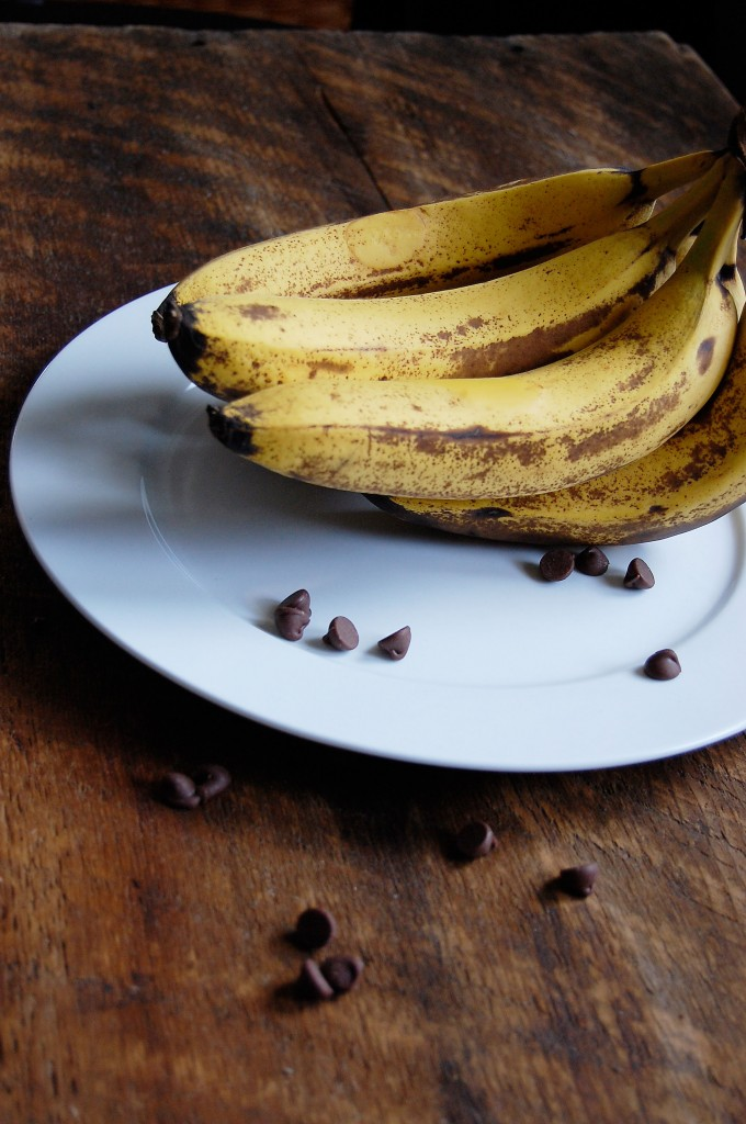 bananas and chocolate chips