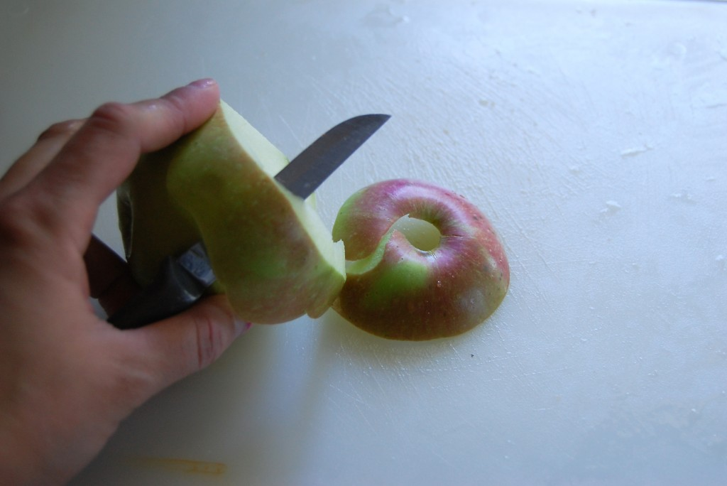 peeling apples