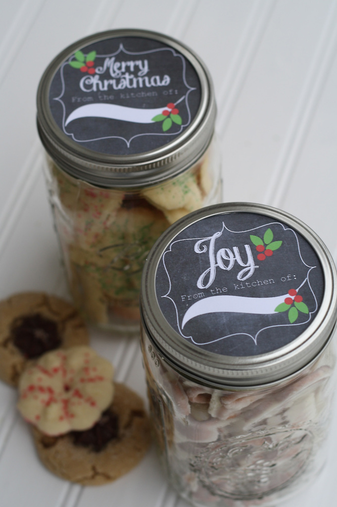 christmas tag on jar