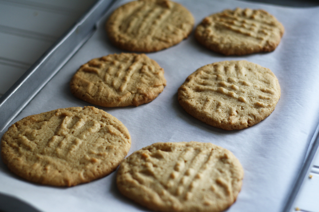 cookies on parchment paper