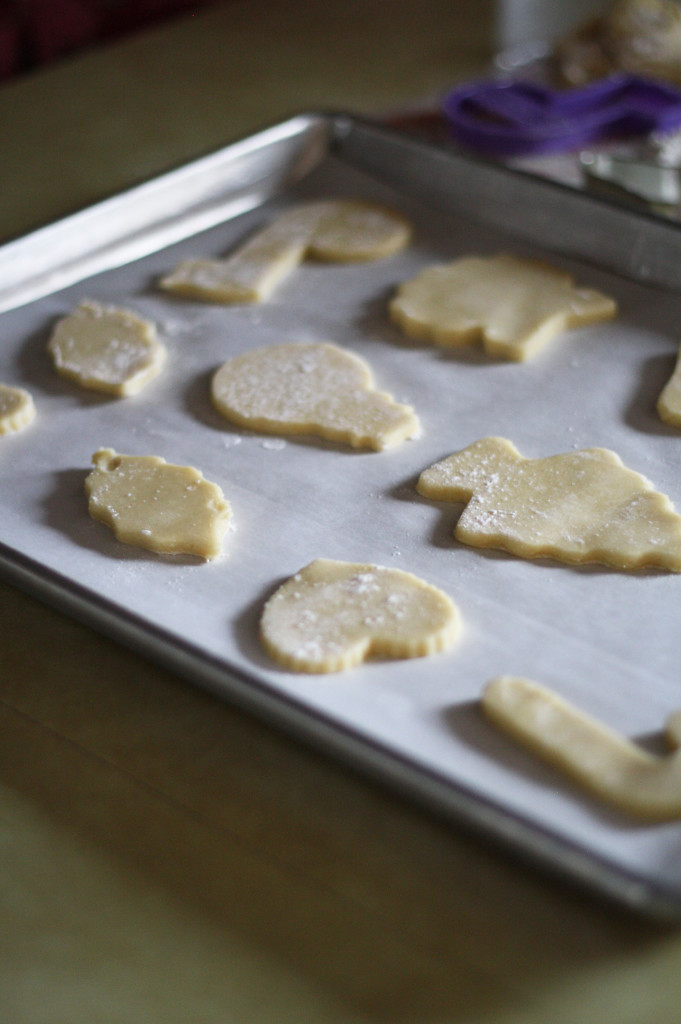 cut out cookies ready to bake