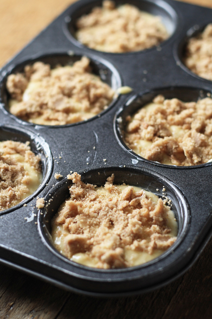 topping on muffins