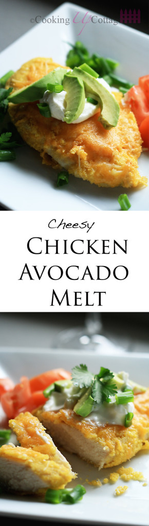 Chicken Avocado melts long pin