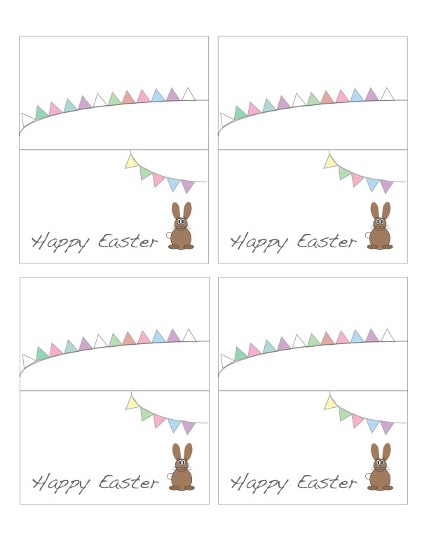 Slobbery image for easter place cards printable