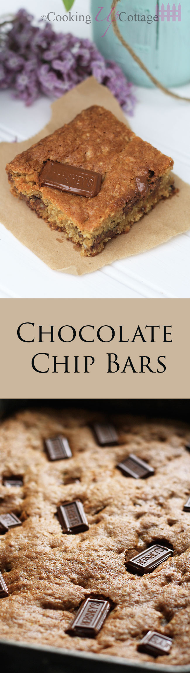 Chocolate Chip Bars – Cooking Up Cottage