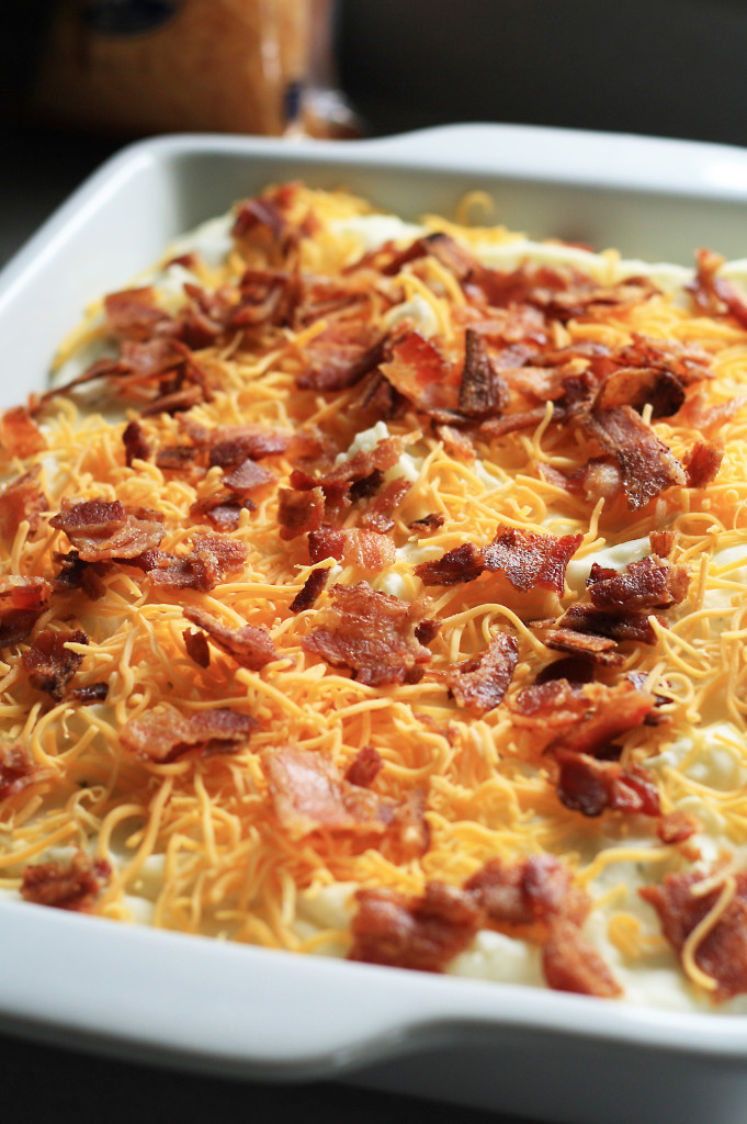 bacon and cheese topping
