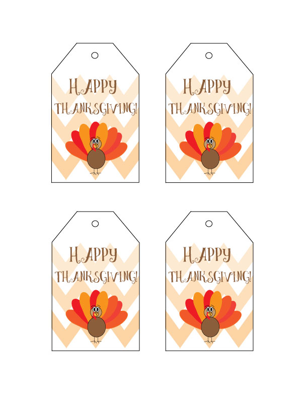 Bright image with free printable thanksgiving tags