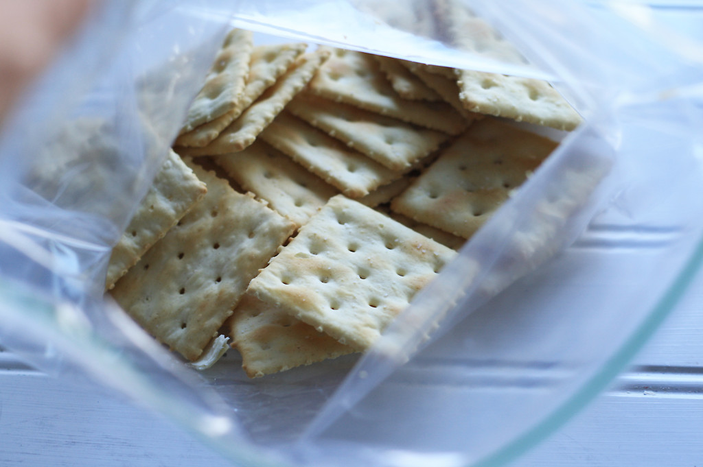 crackers in bag