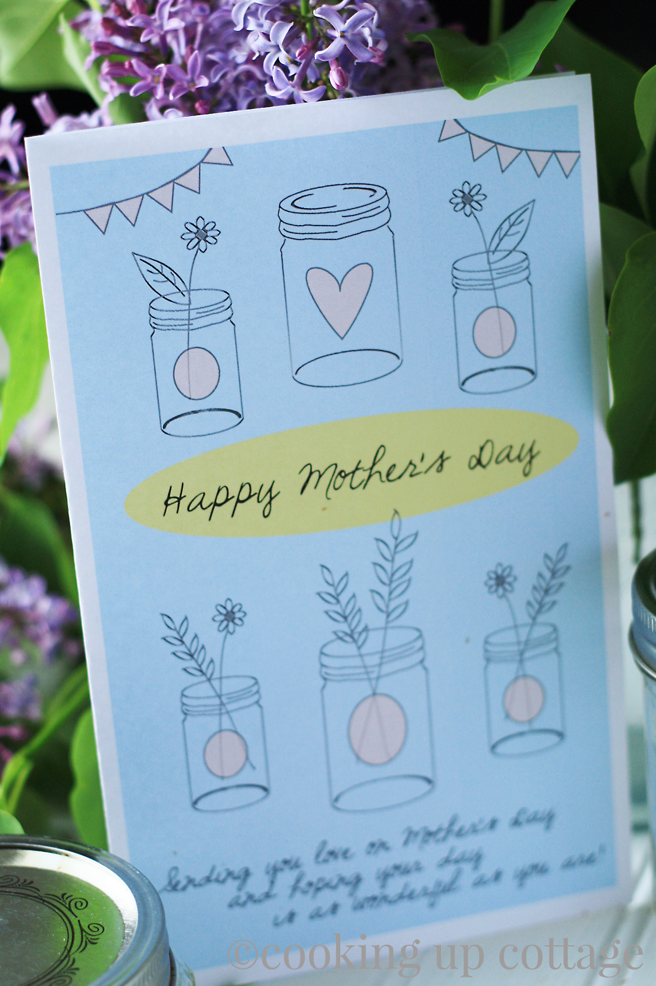 Free Printable Mother S Day Card Cooking Up Cottage