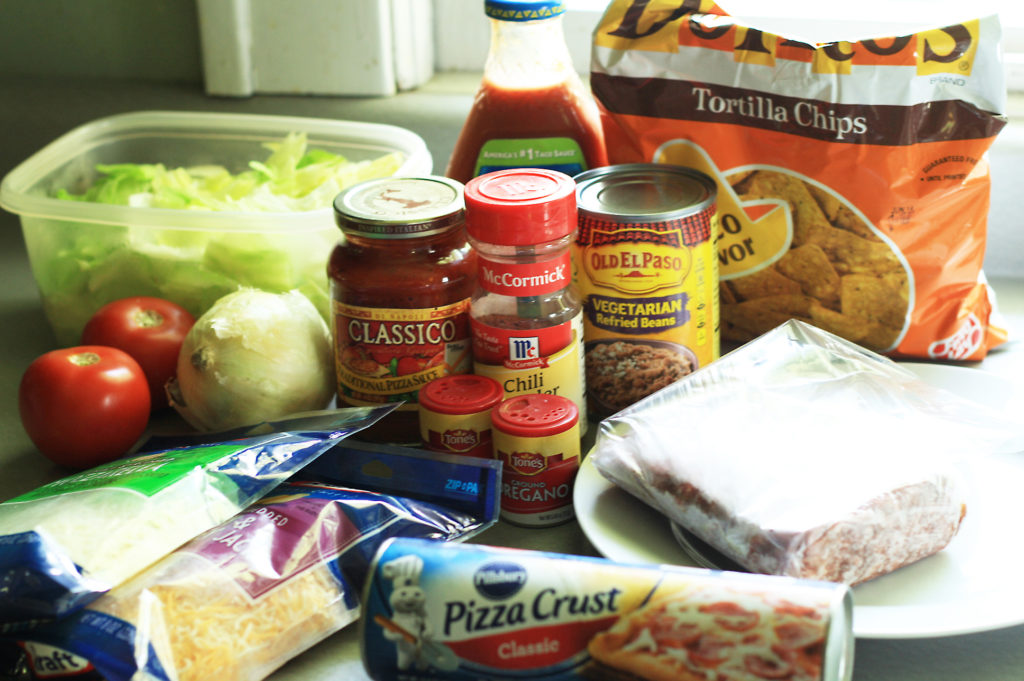 ingredients for taco pizza