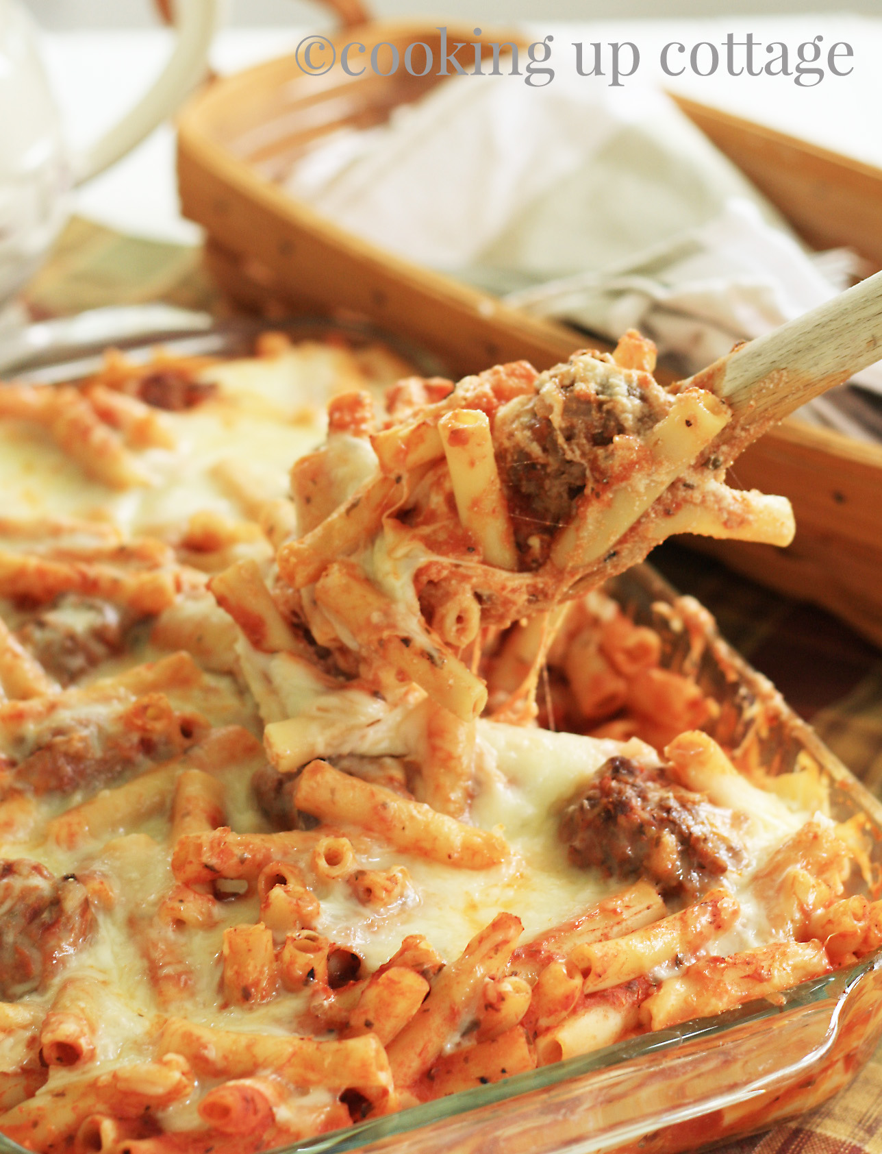 Baked Ziti With Meatballs Cooking Up Cottage