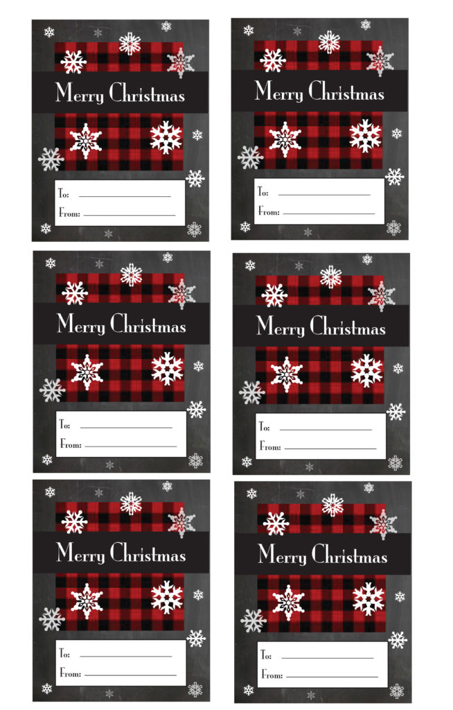 Plaid Christmas Gift Tag Printable Crafts Amp Gardening