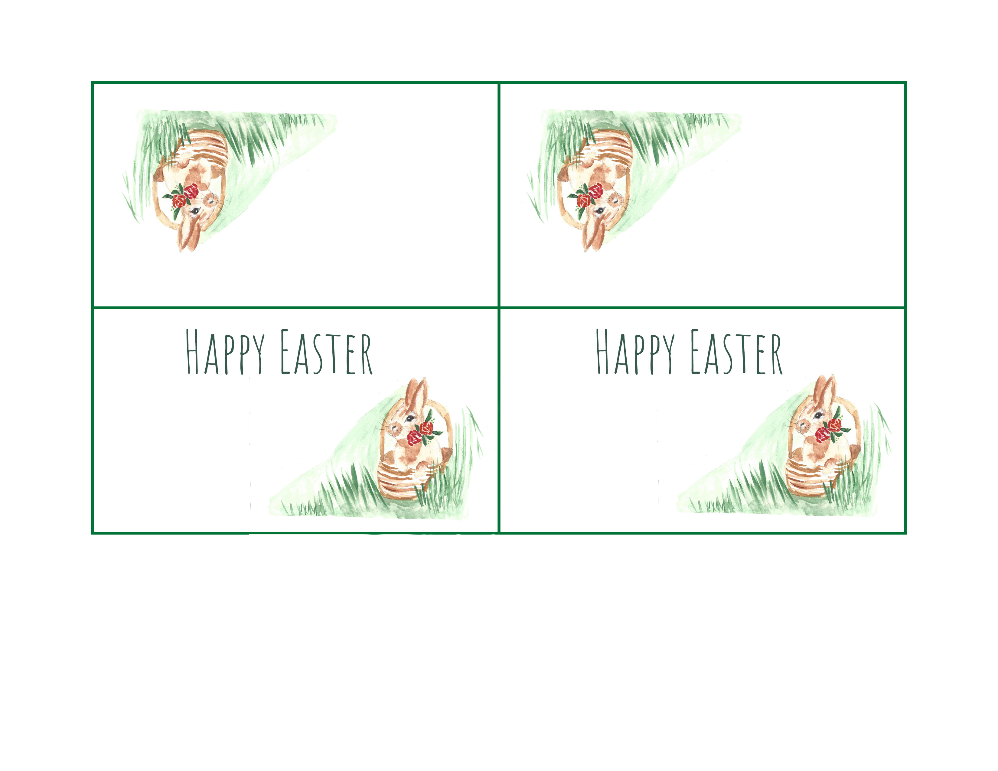 photo relating to Easter Place Cards Printable known as Easter Position Card Printable Cooking Up Cottage